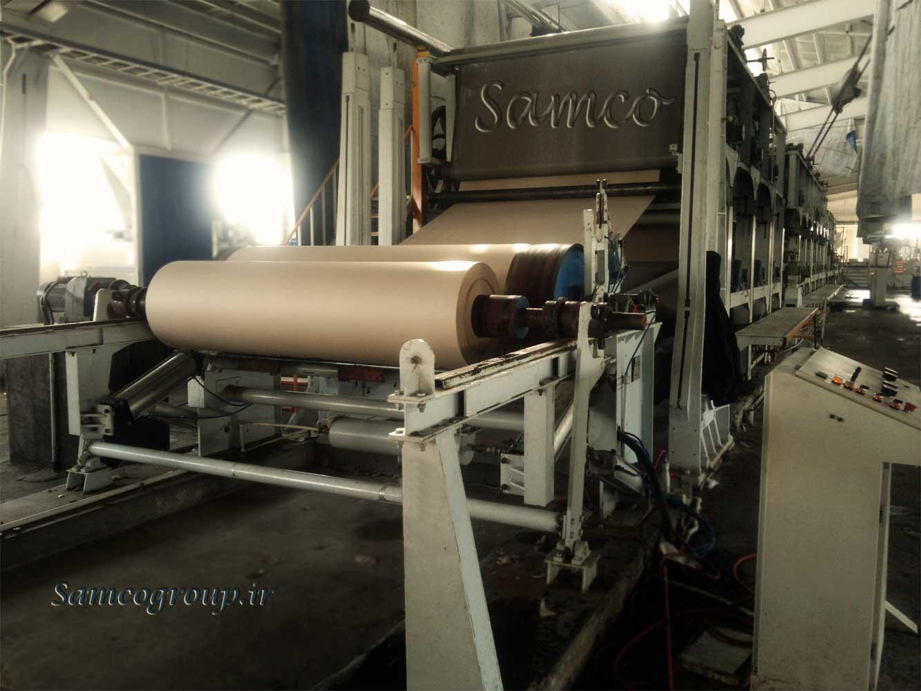 تولیدات ما در زمینه ساخت ماشین آلات کاغذ می باشد